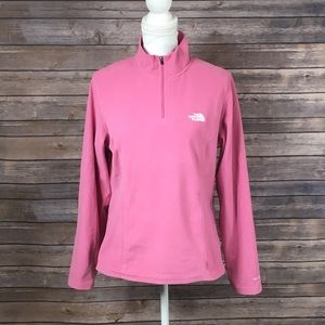 The North Face Pink 3/4 Zip Fleece Pullover